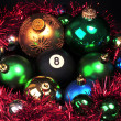 Eight ball and christmas — Stock Photo
