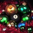 Eight ball and christmas — Stok fotoğraf