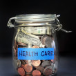 Health Care Jar. — Stock Photo