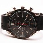 tachymeter czarny zegarek na rękę — Zdjęcie stockowe