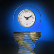 Stock Photo: Modern Glass Clock.