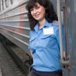 Conductor of the carriage — Stock Photo