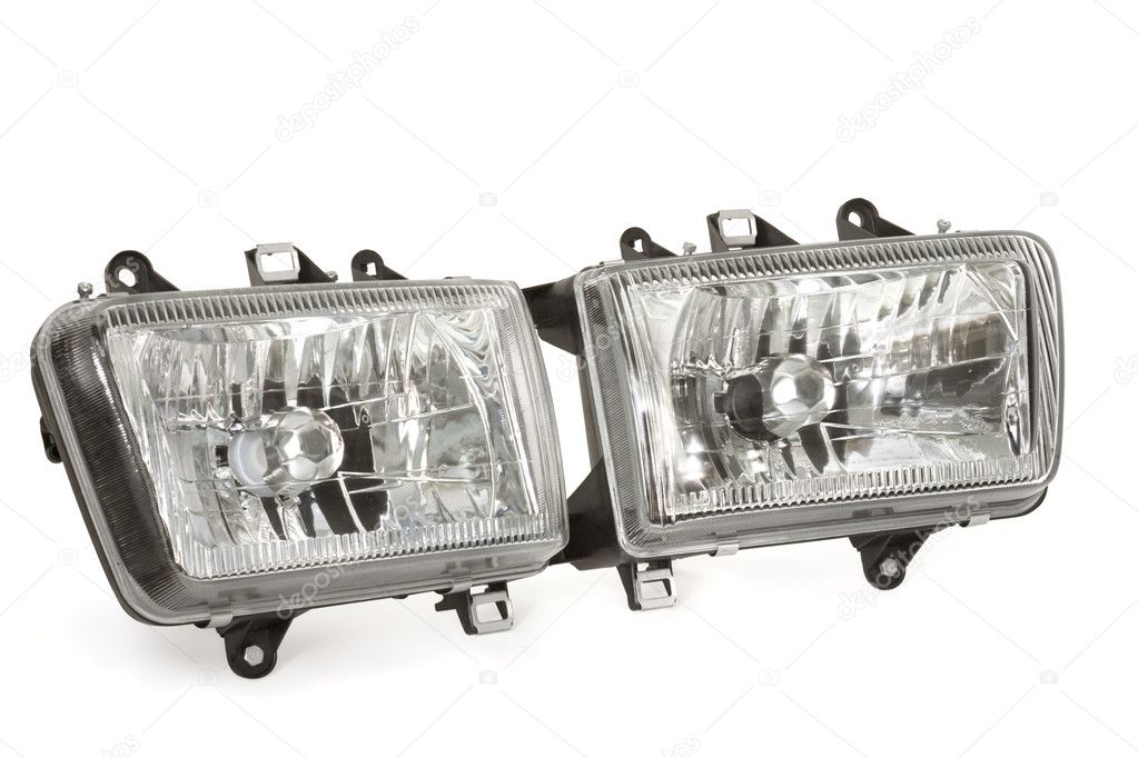 Automobile headlight on a white background — Stock Photo #1719798