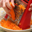 Grated carrots — Stock Photo