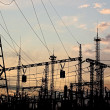 Stock Photo: Electric substation