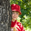 Girl in red hat — Stock Photo #1916170