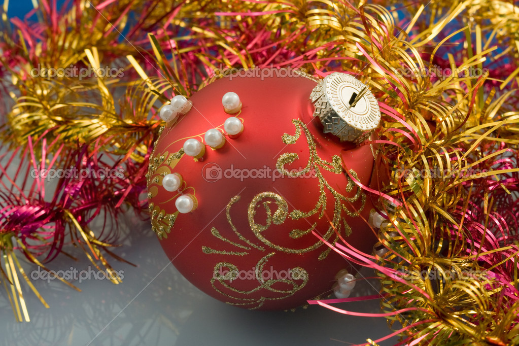 Christmas-tree decorations for a christmas fur-tree — Stock Photo #2558418