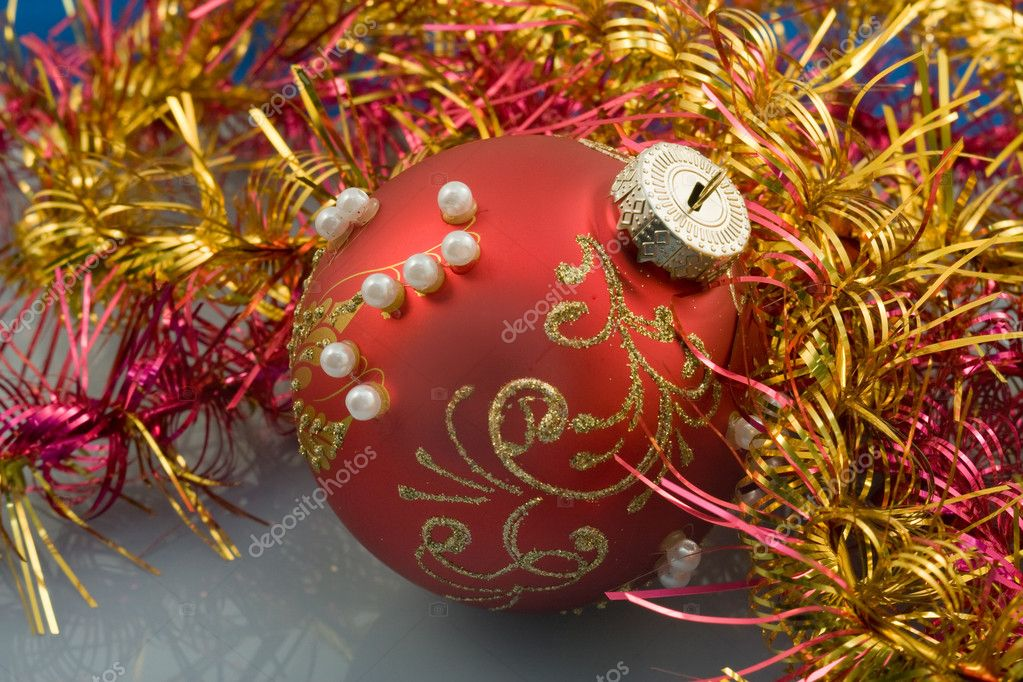 Christmas-tree decorations for a christmas fur-tree — Stok fotoğraf #2558418