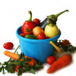 Stock Photo: Vegetables in pail