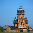 Wooden church in a village — Stock Photo #1606884