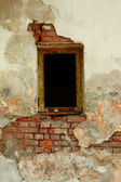 Window at old wall — Stock Photo