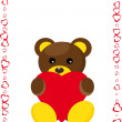Royalty-Free Stock Imagem Vetorial: Lovely bear