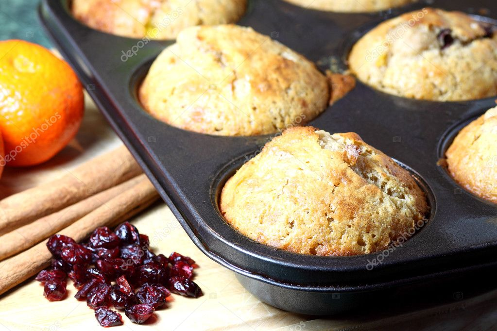 Delicious cookies with cranberries, cinnamon and orange  Stock Photo #1606835