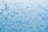 Light blue frozen glass — Stock Photo