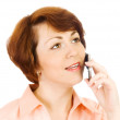 Young woman talking by mobile phone — Stock Photo #1611582