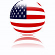 Usa flag ball — Stock Photo