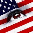 Stock Photo: Usa flag eye