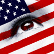 Stock Photo: Usflag eye