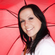 Royalty-Free Stock Photo: Smiling woman with umbrella