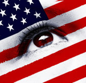 Usa flag eye — Stockfoto