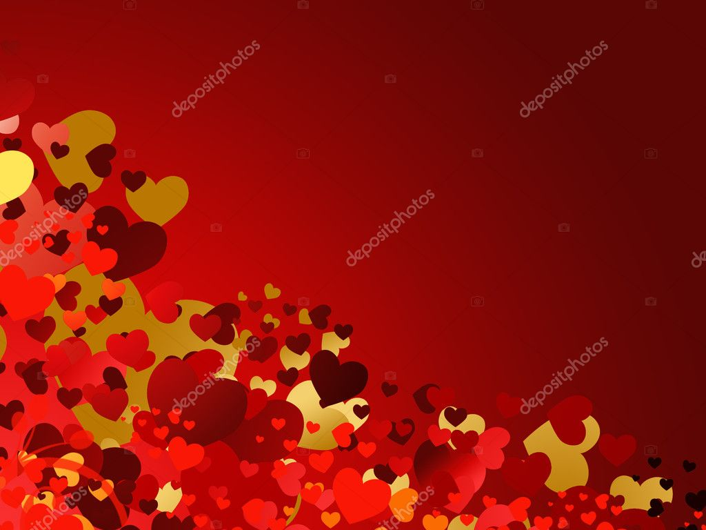 Valenitne's day card with hearts — Stock Photo #1596811
