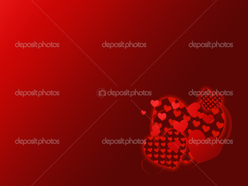 Valentine day card with red hearts — Stock Photo #1596812