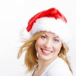 Woman in christmas cap — Stock Photo #1854287