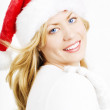 Christmas woman - Stock Photo