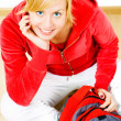 Smiling teenager with backpack — Stock Photo #1855229