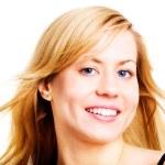 Портрет женщины красивая блондинка — Стоковое фото