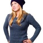 sonriente en ropa de invierno — Foto de Stock