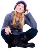Smiling woman in winter clothes — Stock Photo