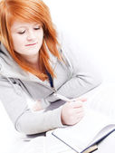 Teenager girl studying — Stock Photo