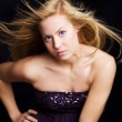 Beautiful blond dancing girl — Stock Photo
