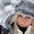 Portrait of a Winter woman — Stockfoto