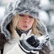 Stock Photo: Portrait of a Winter woman