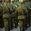 Soldiers march in formation — Stock Photo #1725703