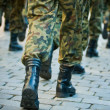 Soldiers march in formation — Stock Photo #1725713