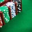 Poker chips in a box — Stock Photo