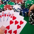 Cards with poker arrangement - Stock Photo