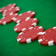 Red poker chips — Stock Photo #1725947