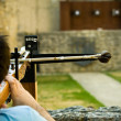 Stock Photo: Cross Bow Shooting
