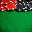 Casino gambling chips - Stock Photo