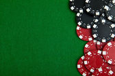 Casino gambling chips with copy space — Stock fotografie