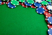 Gambling chips - bevel view — Stock Photo