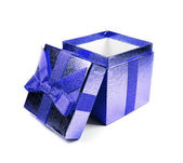 Blue gift box — Stock fotografie
