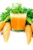 Orange carrots and juice — Stock Photo