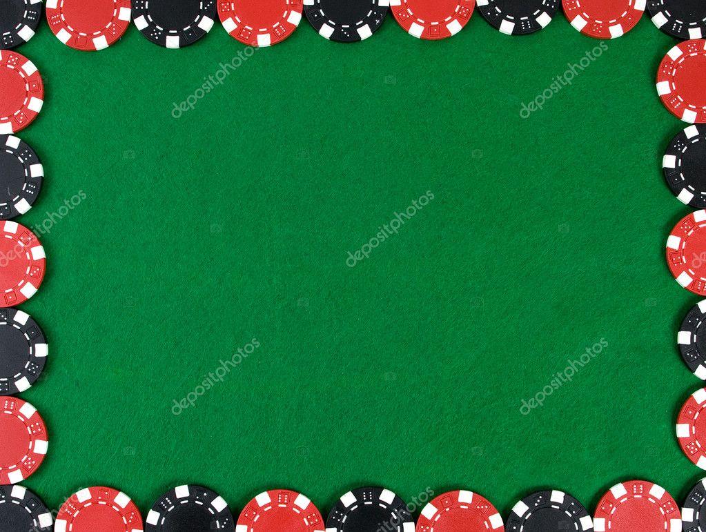 Framed poker chips