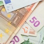 ユーロ紙幣の背景 — ストック写真