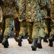 Soldiers march in formation — Stock Photo #2152891